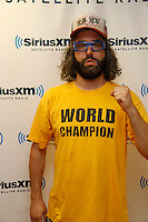 Judah Friedlander visits the studios of SiriusXM and meets  on September 14, 2012