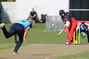 Lancashire Thunders Sophia Dunkley during the Vitality T20 Blast North Group match between Lancashire Thunder and Yorkshire Vikings at Liverpool Cricket Club, Liverpool, United Kingdom on 13 August 2019.