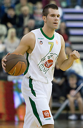 Sani Becirovic (7) of Olimpija at Euroleague basketball match of Group C between KK Union Olimpija, Ljubljana and Maroussi B.C., Athens, on October 29, 2009, in Arena Tivoli, Ljubljana, Slovenia. Olimpija lost 75:81.  (Photo by Vid Ponikvar / Sportida)