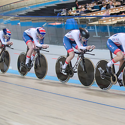 28-02-2018: Wielrennen: WK Baan: Apeldoorn<br /> Women Team Great Britain second time in de quilifitcation