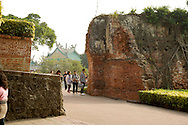 The ancient walls of Anping Fort in Tainan, Taiwan.