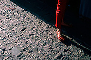 Woman wearing red shoes in Cordoba,Spain