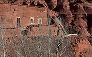 House in the Valley of Roses, High Atlas, Morocco. The Valley of Roses is the tourist name for the Oued Dades river valley, where roses are cultivated for the production of rose water. Picture by Manuel Cohen