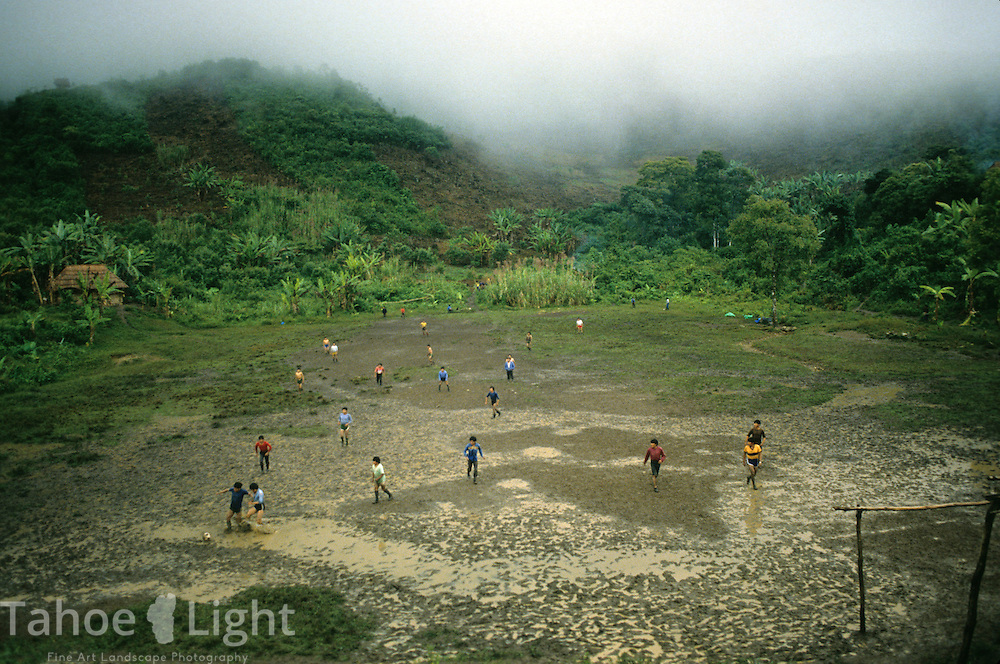 The rustic soccer field at the resistance communita of Caba in the extreme highlands of guatemala