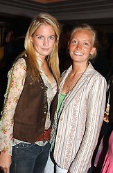 Left to right, MISS MARISSA MONTGOMERY and MISS MARTHA WARD at a party to celebrate the re-launch of the Polo bar at The Westbury Hotel, Bond Street, London W1 on 26th April 2005.<br />