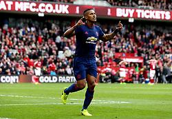 Luis Antonio Valencia of Manchester United celebrates scoring a goal - Mandatory by-line: Robbie Stephenson/JMP - 19/03/2017 - FOOTBALL - Riverside Stadium - Middlesbrough, England - Middlesbrough v Manchester United - Premier League