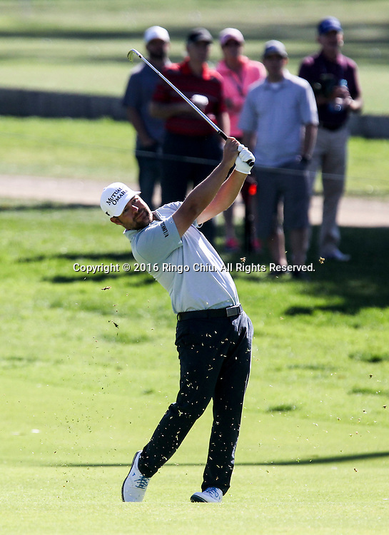Ryan Moore plays in the Final Round of the Northern Trust Open at the Riviera Country Club on February 21, 2016, in Los Angeles,(Photo by Ringo Chiu/PHOTOFORMULA.com)<br /> <br /> Usage Notes: This content is intended for editorial use only. For other uses, additional clearances may be required.