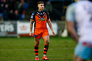 Castleford Tigers stand off Jamie Ellis (6)  during the Betfred Super League match between Castleford Tigers and Widnes Vikings at the Jungle, Castleford, United Kingdom on 11 February 2018. Picture by Simon Davies.