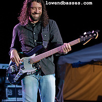 Image of Michael Jeffers (with Joe Nichols) used in Low End Bass ad for Bass Player magazine