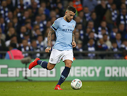 February 24, 2019 - London, England, United Kingdom - Manchester City's Nicolas Otamendi.during during Carabao Cup Final between Chelsea and Manchester City at Wembley stadium , London, England on 24 Feb 2019. (Credit Image: © Action Foto Sport/NurPhoto via ZUMA Press)
