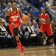 HARTFORD, CONNECTICUT- DECEMBER 19: Shayla Cooper #32 of the Ohio State Buckeyes in action during the UConn Huskies Vs Ohio State Buckeyes, NCAA Women's Basketball game on December 19th, 2016 at the XL Center, Hartford, Connecticut (Photo by Tim Clayton/Corbis via Getty Images)