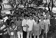 Group of school leavers,<br /> Community of Nueva Esperanza, El Salvador, 1999.