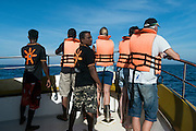 Whale watching from Mirissa harbour, Sri Lanka.<br />