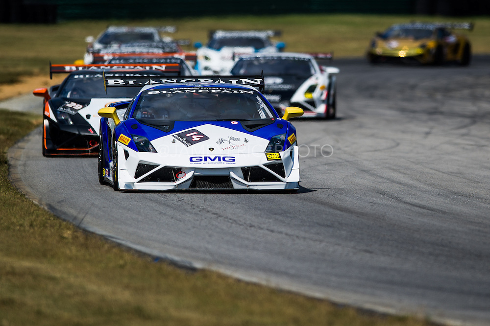 October 3-5, 2013. Lamborghini Super Trofeo - Virginia International Raceway. Start of race 1.