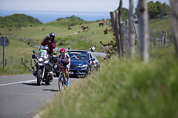 Ashleigh Moolmann-Pasio (RSA) of Cervélo-Bigla Cycling Team approaches the top of the hardest climb of Stage 5 of the Emakumeen Bira - a 95.2 km road race, starting and finishing in Errenteria on May 21, 2017, in Basque Country, Spain. (Photo by Balint Hamvas/Velofocus)