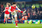 Arsenal defender Héctor Bellerín (2) during the Premier League match between Chelsea and Arsenal at Stamford Bridge, London, England on 21 January 2020.