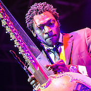 Dibaté of french band called Wato. 21st International Jazz Festival in Saint Louis, Senegal, May 15 - 19, 2013.
