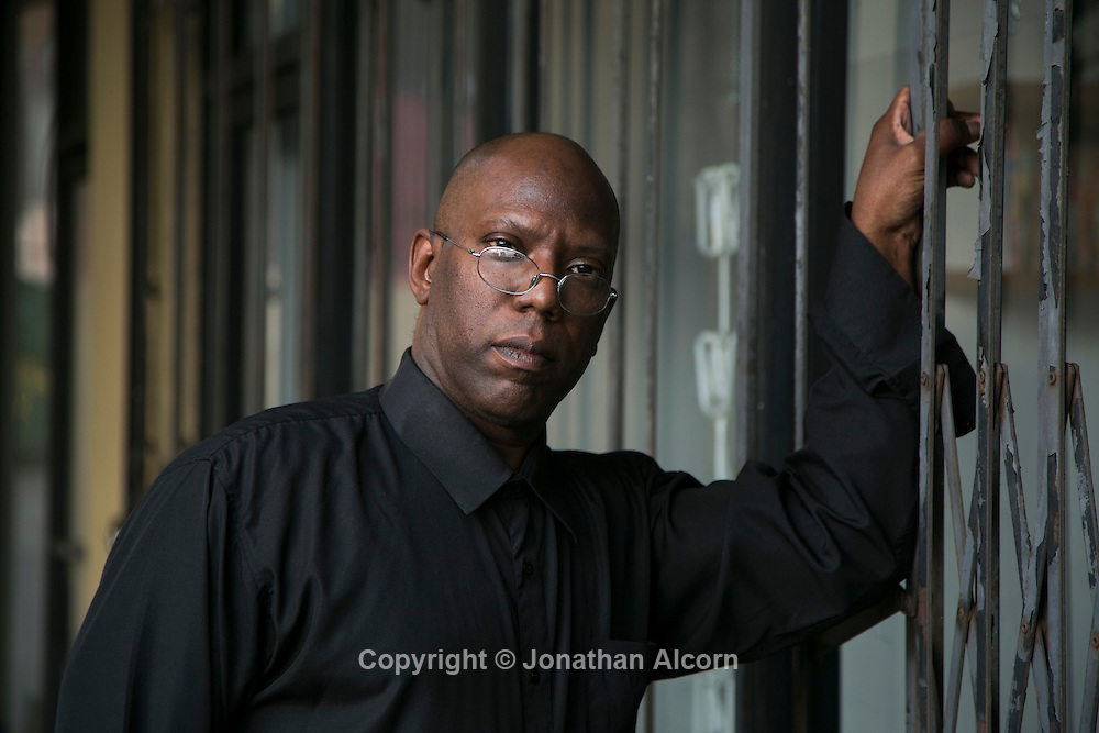 Dr. Ernest Bagner III stands outside his former office tucked in the back corner of a strip mall in Hollywood, California November 12, 2013. photo by Jonathan Alcorn for Propublica