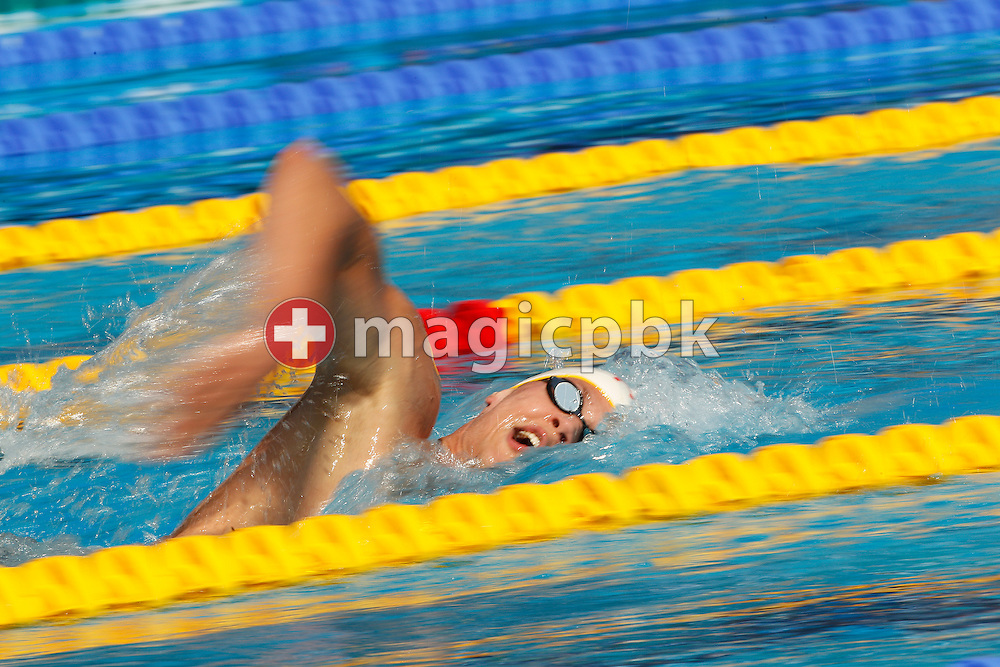 Mads GLAESNER of Denmark competes in the men's 800m Freestyle Heats at the European Swimming Championship at the Hajos Alfred Swimming complex in Budapest, Hungary, Thursday, Aug. 12, 2010. (Photo by Patrick B. Kraemer / MAGICPBK)