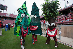 October 23, 2010; Stanford, CA, USA;  Version of the Stanford Cardinal mascot perform on the sidelines before the game against the Washington State Cougars at Stanford Stadium.