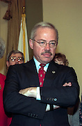 Republican Congressmen Bob Barr waits his turn for the ceremonial swearing in January 6, 1999 at the start of the 106th Congress.