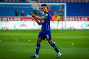 Wigan Antonee Robinson applauds his fans as he leaves the field after the EFL Sky Bet Championship match between Wigan Athletic and Barnsley at the DW Stadium, Wigan, England on 31 August 2019.