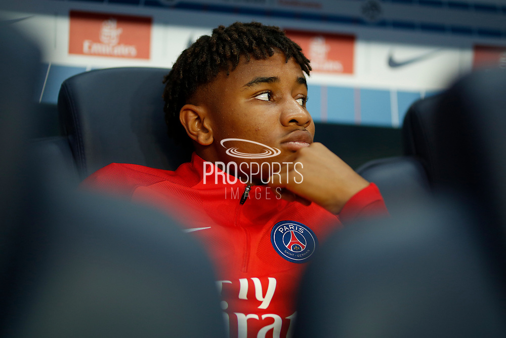 Paris Saint Germain's French Christopher Nkunku looks on during the French championship L1 football match between Paris Saint-Germain (PSG) and Saint-Etienne (ASSE), on August 25, 2017 at the Parc des Princes in Paris, France - Photo Benjamin Cremel / ProSportsImages / DPPI