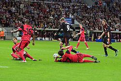 28.09.2011, BayArena, Leverkusen, GER, UEFA CL, Gruppe E, Bayer 04 Leverkusen (GER) vs KRC Genk (BEL), im Bild.Andre Schürrle (Leverkusen #9) dribbelt durch die Abwehr, ohne Torerfolg. Stefan Kiessling (Leverkusen #11) (R) will den Ball..// during the UEFA CL, group E, Bayer Leverkusen vs KRC Genk  on 2011/09/28, at BayArena, Leverkusen, Germany. EXPA Pictures © 2011, PhotoCredit: EXPA/ nph/  Mueller *** Local Caption ***       ****** out of GER / CRO  / BEL ******