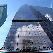 Bank of America, Modern office building skyscraper background perspective. NYC