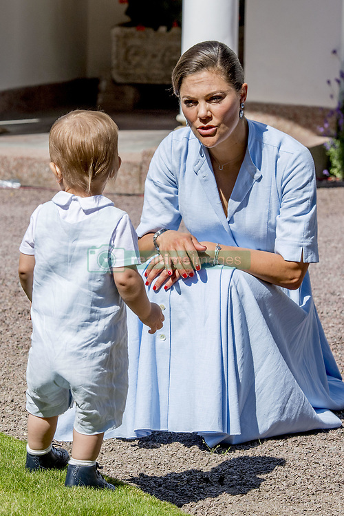 Crown Princess Victoria and Prince Oscar during the traditionally celebration of Crown Princess Victoria's birthday at the royal family's summer residence, Solliden Palace in Borgholm, Öland, Sweden, on July 15, 2017, a day later Stockholm celebration. Photo by Robin Utrecht/ABACAPRESS.COM