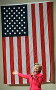 U.S. Democratic Senator and presidential hopeful Hillary Clinton campaigns at DAR Constitution Hall in Washington, DC USA on Wednesday 26 March. Clinton is vying for primary votes along with her democratic rival Senator Barack Obama.