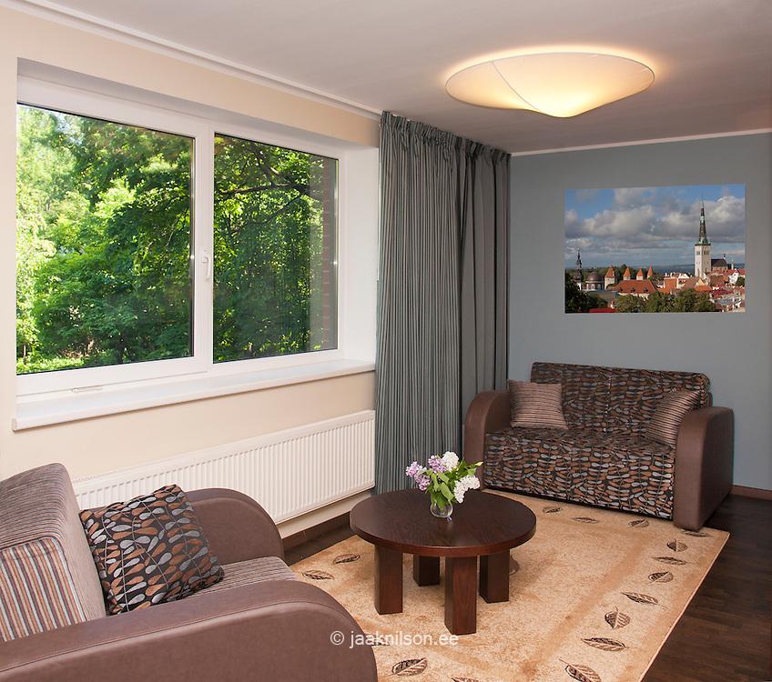 hotel living area