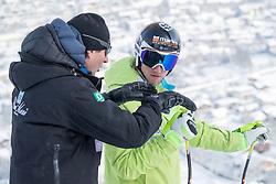 17.01.2017, Hahnenkamm, Kitzbühel, AUT, FIS Weltcup Ski Alpin, Kitzbuehel, Abfahrt, Herren, Streckenbesichtigung, im Bild Sloweniens Trainer Andrea Massi und Klemen Kosi (SLO) // Slowenien Coach Andrea Massi and Klemen Kosi of Slovenia during the course inspection for the men's downhill of FIS Ski Alpine World Cup at the Hahnenkamm in Kitzbühel, Austria on 2017/01/17. EXPA Pictures © 2017, PhotoCredit: EXPA/ Johann Groder