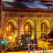 Kansas City's Union Station exterior at dusk