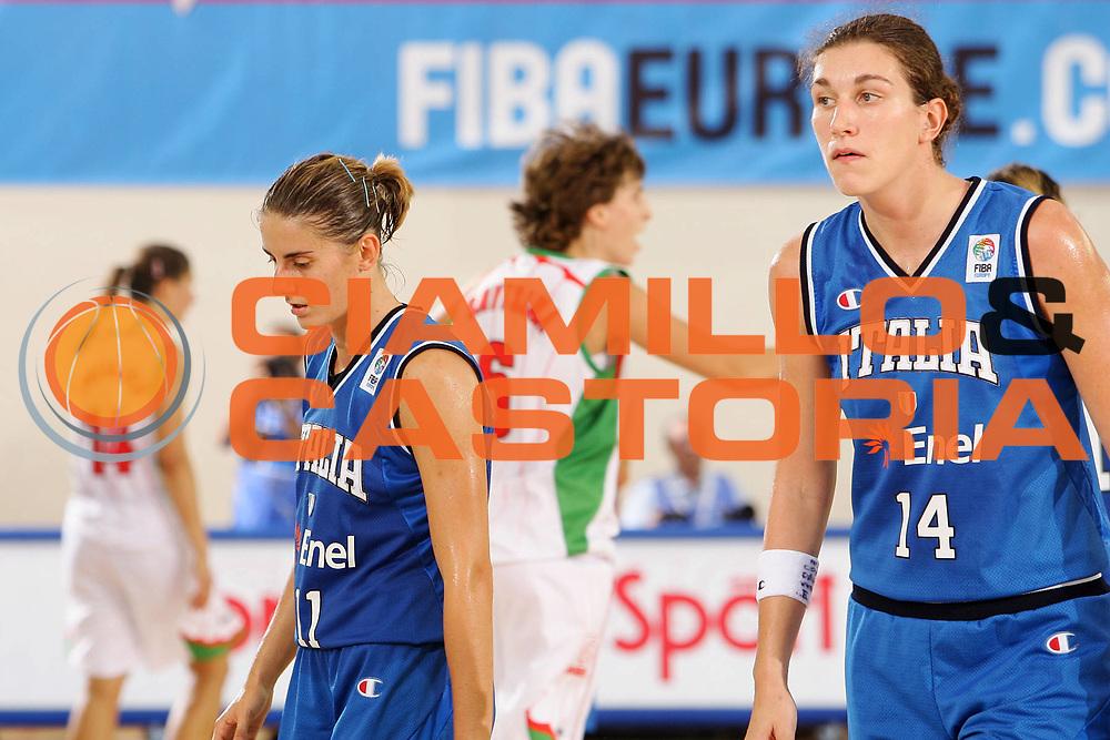 DESCRIZIONE : Ortona Italy Italia Eurobasket Women 2007 Bielorussia Italia Belarus Italy <br /> GIOCATORE : Raffaella Masciadri Eva Giauro <br /> SQUADRA : Nazionale Italia Donne Femminile <br /> EVENTO : Eurobasket Women 2007 Campionati Europei Donne 2007 <br /> GARA : Bielorussia Italia Belarus Italy <br /> DATA : 03/10/2007 <br /> CATEGORIA : Delusione <br /> SPORT : Pallacanestro <br /> AUTORE : Agenzia Ciamillo-Castoria/S.Silvestri <br /> Galleria : Eurobasket Women 2007 <br /> Fotonotizia : Ortona Italy Italia Eurobasket Women 2007 Bielorussia Italia Belarus Italy <br /> Predefinita :