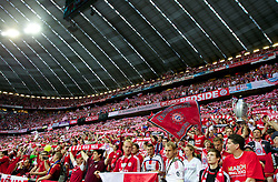 19.05.2012, Allianz Arena, Muenchen, GER, UEFA CL, Finale, FC Bayern Muenchen (GER) vs FC Chelsea (ENG), im Bild FC Bayern Munchen supporters before the Final Match of the UEFA Championsleague between FC Bayern Munich (GER) vs Chelsea FC (ENG) at the Allianz Arena, Munich, Germany on 2012/05/19. EXPA Pictures © 2012, PhotoCredit: EXPA/ Propagandaphoto/ Vegard Grott..***** ATTENTION - OUT OF ENG, GBR, UK *****