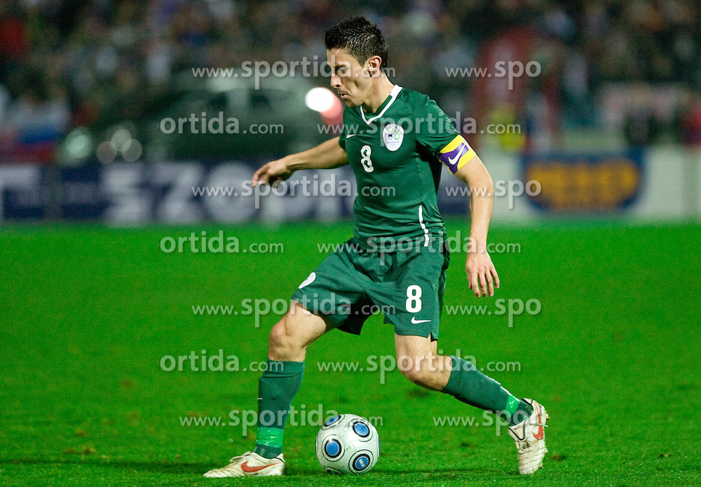 Robert Koren of Slovenia  at  the 2010 FIFA World Cup South Africa Qualifying match between Slovakia and Slovenia, on October 10, 2009, Tehelne Pole Stadium, Bratislava, Slovakia. Slovenia won 2:0. (Photo by Vid Ponikvar / Sportida)