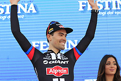 Tom Dumoulin (NED) Team Giant-Alpecin wins his home stage, Stage 1 of the 2016 Giro d'Italia, an individual time trial of 9.8km around Apeldoorn, The Nethrerlands. 6th May 2016.<br /> Picture: Eoin Clarke | Newsfile<br /> <br /> <br /> All photos usage must carry mandatory copyright credit (&copy; Newsfile | Eoin Clarke)