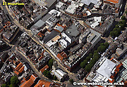 aerial photograph of  High Ousegate  York Yorkshire England UK   Drone style aerial view taken in York Great Britain