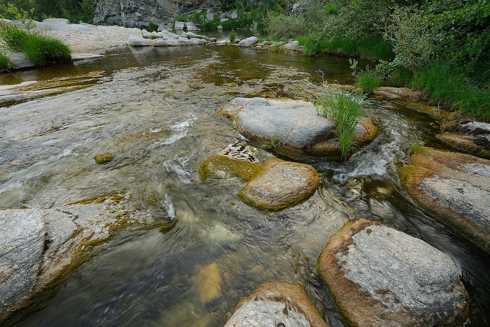 Bela Reka area and river, Eastern Rhodope mountains, Bulgaria