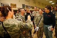 al franken on Tadji Base, Iraq<br /> during USO tour<br /> <br /> photo by Owen Franken<br /> <br /> Dec , 2006