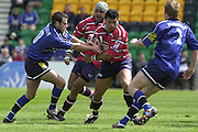 Sport - Rugby 28/04/2002 Parker Pen Shield - Semi-Final.Gloucester vs Sale - Franklin Gardens - Northampton.Robert Todd moves away wiht the ball..[Mandatory Credit, Peter Spurier/ Intersport Images].