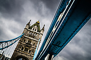 Not the traditional view of a London landmark, I wanted to capture the strength of the iron work supporting the road.