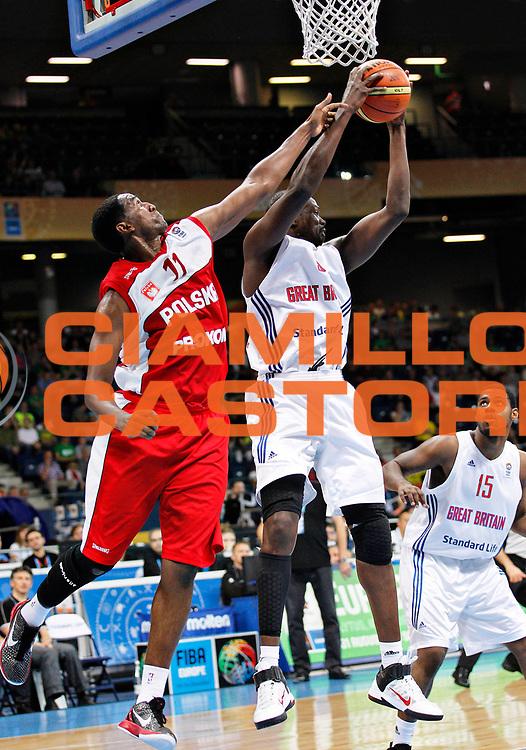 DESCRIZIONE : Panevezys Lithuania Lituania Eurobasket Men 2011 Preliminary Round Inghilterra Polonia Great Britain Poland<br /> GIOCATORE : Luol Deng<br /> SQUADRA : Inghilterra Great Britain<br /> EVENTO : Eurobasket Men 2011<br /> GARA : Inghilterra Polonia Great Britain Poland<br /> DATA : 05/09/2011 <br /> CATEGORIA : rimbalzo rebound<br /> SPORT : Pallacanestro <br /> AUTORE : Agenzia Ciamillo-Castoria/L.Kulbis<br /> Galleria : Eurobasket Men 2011 <br /> Fotonotizia : Panevezys Lithuania Lituania Eurobasket Men 2011 Preliminary Round Inghilterra Polonia Great Britain Poland<br /> Predefinita :
