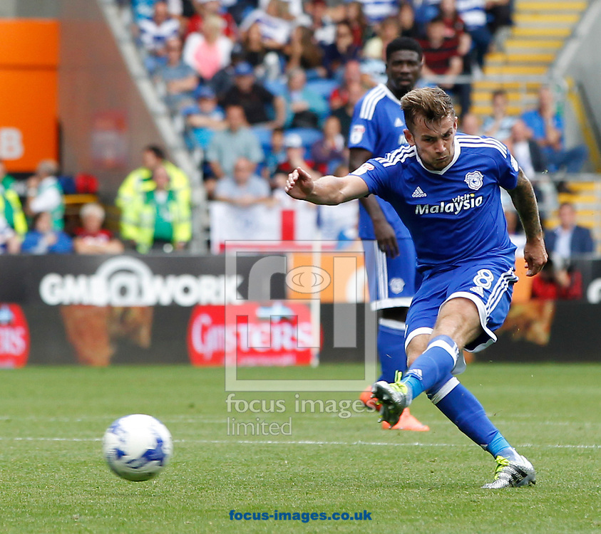 Joe Ralls of Cardiff City during the Sky Bet Championship match at the Cardiff City Stadium, Cardiff<br /> Picture by Mike Griffiths/Focus Images Ltd +44 7766 223933<br /> 14/08/2016