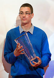 Sebastijan Jagarinec during the Slovenia's Athlete of the year award ceremony by Slovenian Athletics Federation AZS, on November 12, 2008 in Hotel Mons, Ljubljana, Slovenia.(Photo By Vid Ponikvar / Sportida.com) , on November 12, 2010.