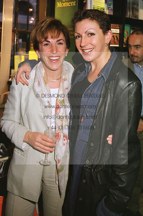 Left to right, MRS EDWINA CURRIE former MP and her daughter MISS DEBBIE CURRIE, at a party in London on 28th April 1999.MRN 38