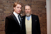 FREDDIE FOX; EDWARD FOX, Party after the opening of 'Flea in her Ear' . The Old Vic. ( John Mortimer write the translation of theplay.) Vinioplois. 14 December 2010. DO NOT ARCHIVE-© Copyright Photograph by Dafydd Jones. 248 Clapham Rd. London SW9 0PZ. Tel 0207 820 0771. www.dafjones.com.