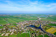 Nederland, Noord-Holland, Gemeente Waterland, 20-04-2015; Broek in Waterland met Sint-Nikolaaskerk en water van het Haven Rak.<br /> Picturesque village in Waterland, north of Amsterdam.<br /> luchtfoto (toeslag op standard tarieven);<br /> aerial photo (additional fee required);<br /> copyright foto/photo Siebe Swart