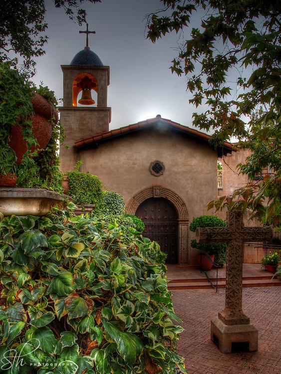 The Tlaquepaque Chapel at sunset, Sedona, AZ